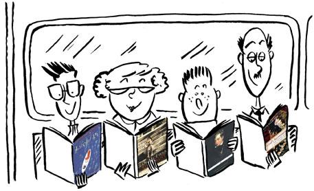Reading Cartoons and Comics CartoonStock Cartoon Pictures